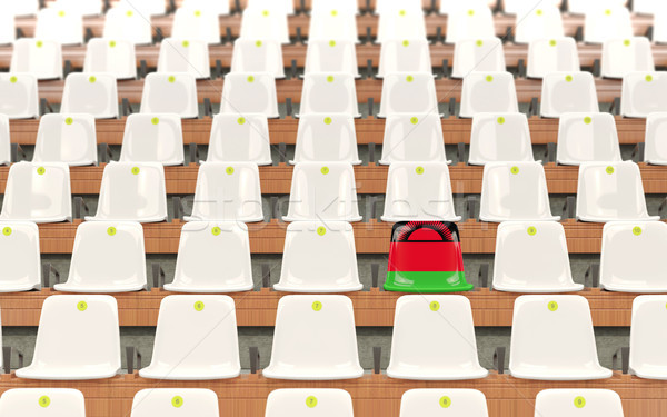 Stadium seat with flag of malawi Stock photo © MikhailMishchenko