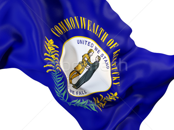 kentucky state flag close up. United states local flags Stock photo © MikhailMishchenko