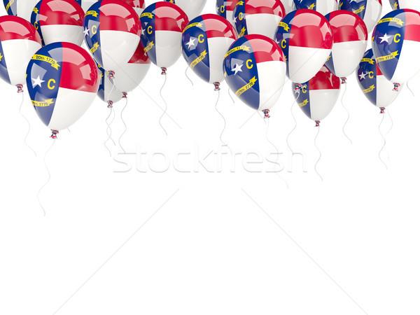 Balloons frame with flag of north carolina. United states local  Stock photo © MikhailMishchenko