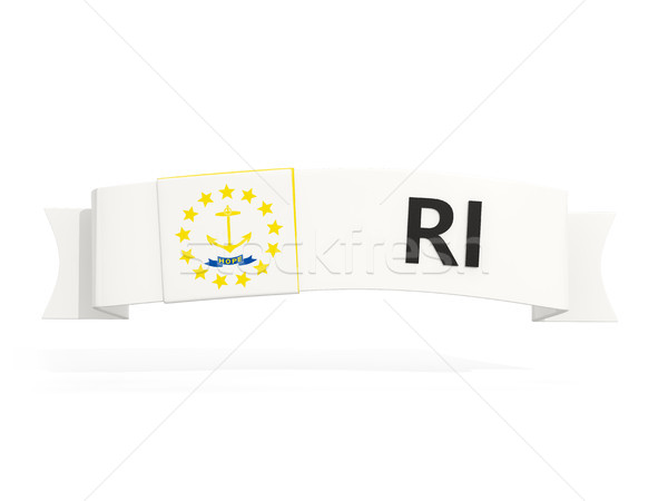 rhode island state flag on banner with postal abbreviation isola Stock photo © MikhailMishchenko
