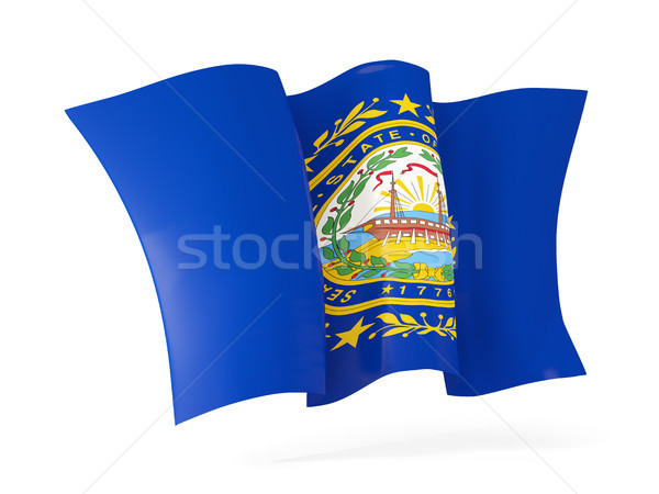 New Hampshire bandera icono Estados Unidos Foto stock © MikhailMishchenko