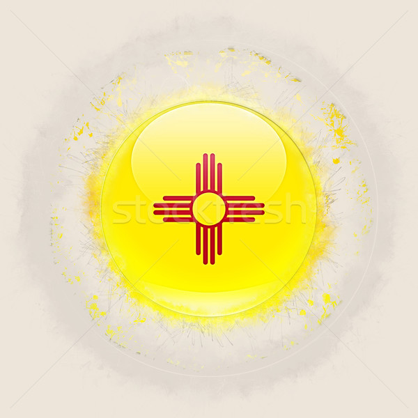 new mexico state flag on a round grunge icon. United states loca Stock photo © MikhailMishchenko