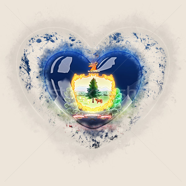 vermont state flag on a grunge heart. United states local flags Stock photo © MikhailMishchenko