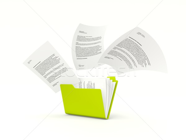 Folder with files isolated on white Stock photo © MikhailMishchenko