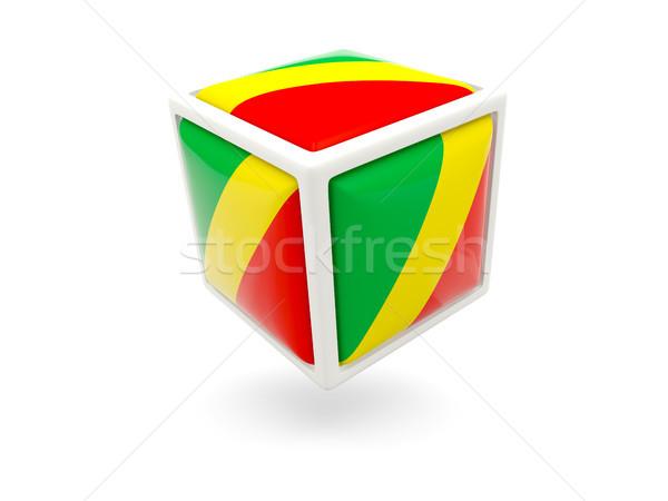 Bayrak cumhuriyet Kongo küp ikon yalıtılmış Stok fotoğraf © MikhailMishchenko