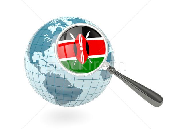 Photo stock: Pavillon · Kenya · bleu · monde · isolé