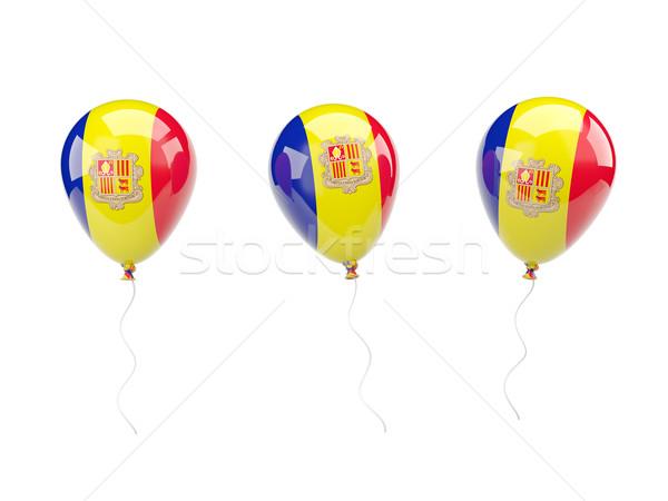 Lucht ballonnen vlag Andorra geïsoleerd witte Stockfoto © MikhailMishchenko