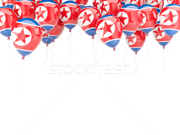 Balloon frame with flag of north korea Stock photo © MikhailMishchenko