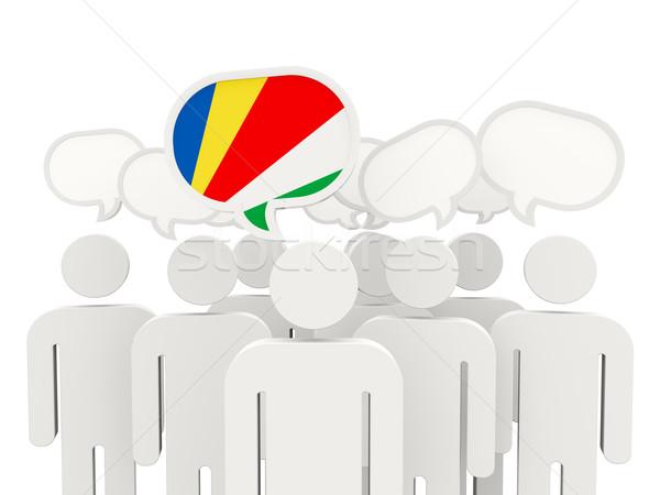 People with flag of seychelles Stock photo © MikhailMishchenko
