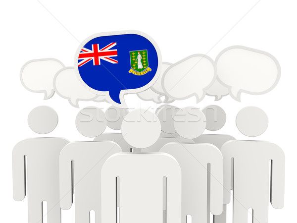 People with flag of british virgin islands Stock photo © MikhailMishchenko
