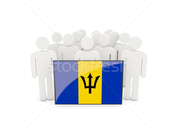 People with flag of barbados Stock photo © MikhailMishchenko
