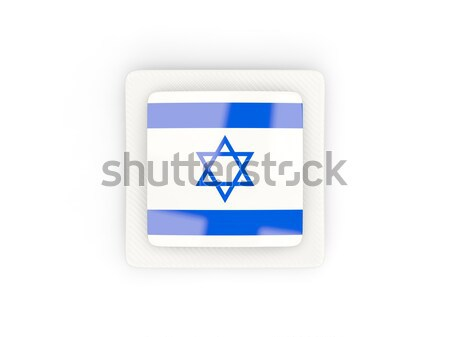 Square metal button with flag of israel Stock photo © MikhailMishchenko