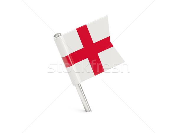 флаг Pin Англии изолированный белый Сток-фото © MikhailMishchenko