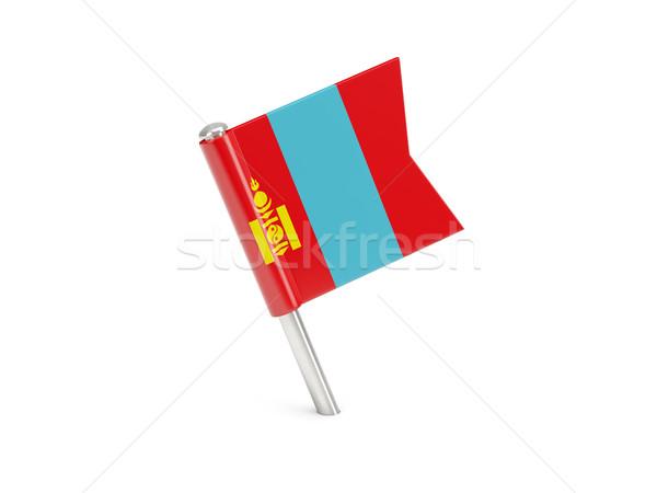 Flag pin of mongolia Stock photo © MikhailMishchenko
