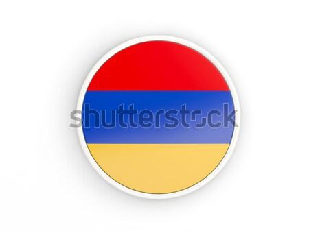 Etiket bayrak Kolombiya yalıtılmış beyaz seyahat Stok fotoğraf © MikhailMishchenko