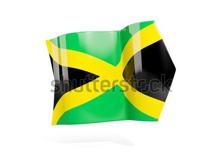 Sticker vlag Jamaica geïsoleerd witte reizen Stockfoto © MikhailMishchenko
