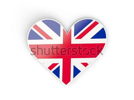 Heart shaped icon with flag of united kingdom Stock photo © MikhailMishchenko