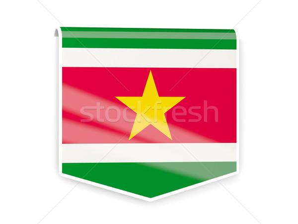 флаг Label Суринам изолированный белый знак Сток-фото © MikhailMishchenko