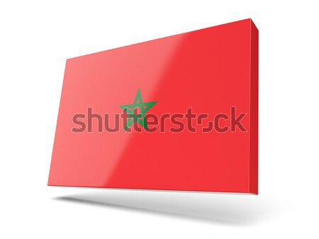 Cuadrados icono bandera Marruecos aislado blanco Foto stock © MikhailMishchenko