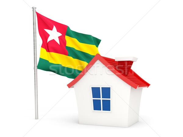 Domu banderą Togo odizolowany biały domu Zdjęcia stock © MikhailMishchenko