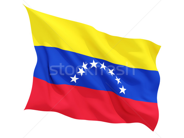 Integet zászló Venezuela izolált fehér Stock fotó © MikhailMishchenko
