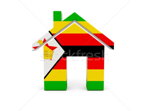 домой флаг Зимбабве изолированный белый стране Сток-фото © MikhailMishchenko