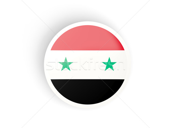 Adesivo bandeira Síria isolado branco viajar Foto stock © MikhailMishchenko