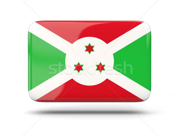 Praça ícone bandeira Burundi sombra assinar Foto stock © MikhailMishchenko