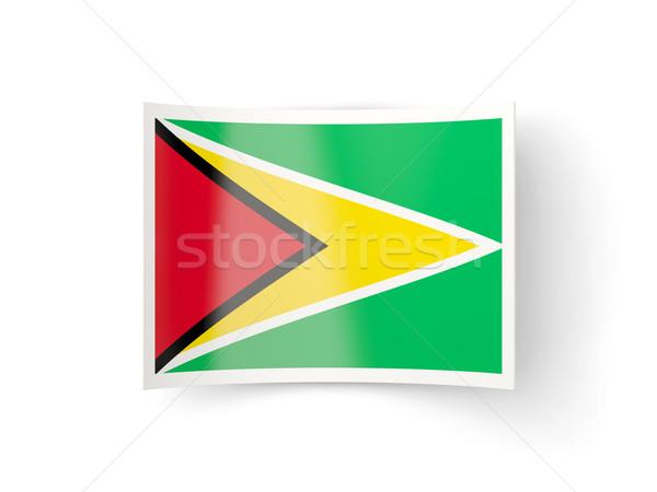Icon vlag Guyana geïsoleerd witte land Stockfoto © MikhailMishchenko