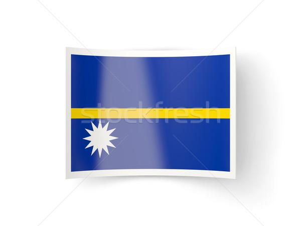 Bent icon with flag of nauru Stock photo © MikhailMishchenko