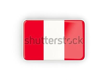 Tér ikon zászló Peru árnyék felirat Stock fotó © MikhailMishchenko