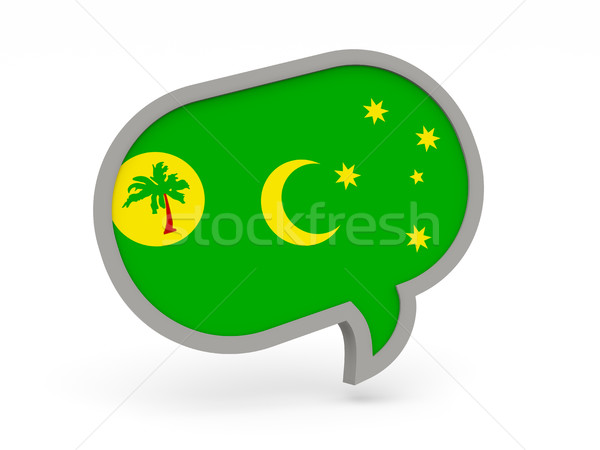 Chat icon with flag of cocos islands Stock photo © MikhailMishchenko