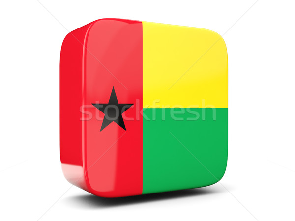 Square icon with flag of guinea bissau square. 3D illustration Stock photo © MikhailMishchenko