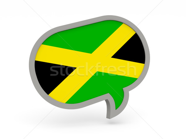 Chat icon with flag of jamaica Stock photo © MikhailMishchenko