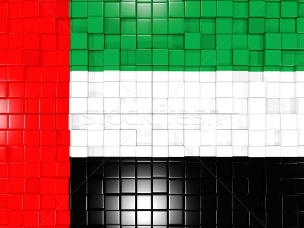 Praça bandeira Emirados Árabes Unidos 3D mosaico Foto stock © MikhailMishchenko