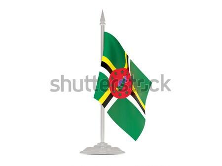 флаг Замбия флагшток 3d визуализации изолированный белый Сток-фото © MikhailMishchenko