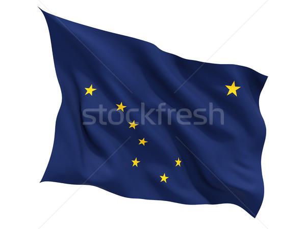 флаг изолированный белый 3d иллюстрации ветер Сток-фото © MikhailMishchenko
