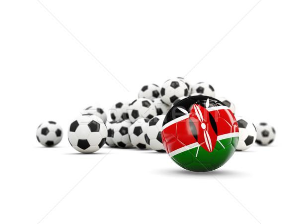 Stock fotó: Futball · zászló · izolált · fehér · 3d · illusztráció · sport