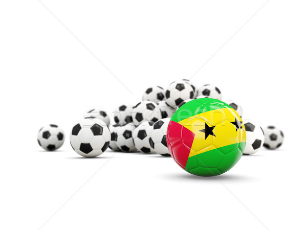 Football with flag of sao tome and principe isolated on white Stock photo © MikhailMishchenko