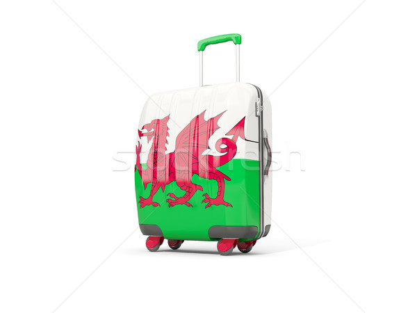 Luggage with flag of wales. Suitcase isolated on white Stock photo © MikhailMishchenko