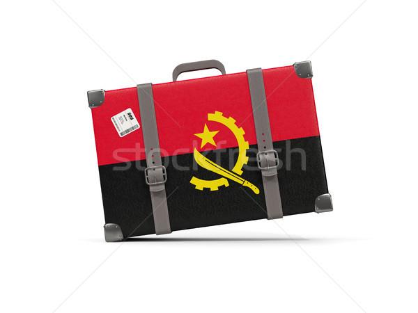 Камера флаг Ангола чемодан изолированный белый Сток-фото © MikhailMishchenko