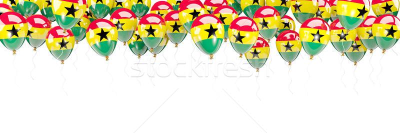 Balloons frame with flag of ghana Stock photo © MikhailMishchenko