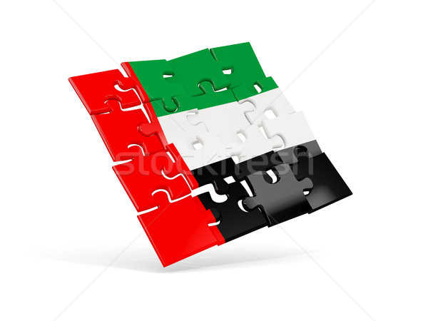 Bilmece bayrak Birleşik Arap Emirlikleri yalıtılmış beyaz 3d illustration Stok fotoğraf © MikhailMishchenko