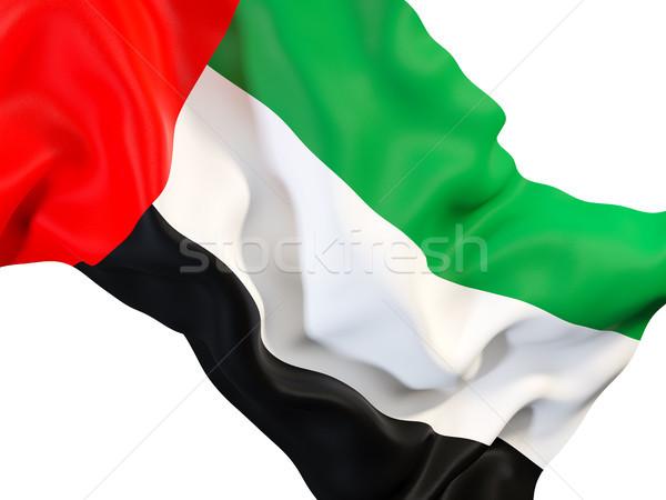 флаг Объединенные Арабские Эмираты 3d иллюстрации путешествия Сток-фото © MikhailMishchenko