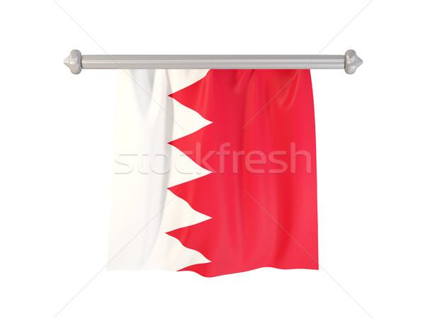 Bayrak Bahreyn yalıtılmış beyaz 3d illustration etiket Stok fotoğraf © MikhailMishchenko