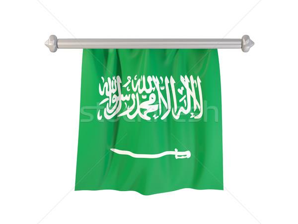 Bandeira Arábia Saudita isolado branco ilustração 3d etiqueta Foto stock © MikhailMishchenko