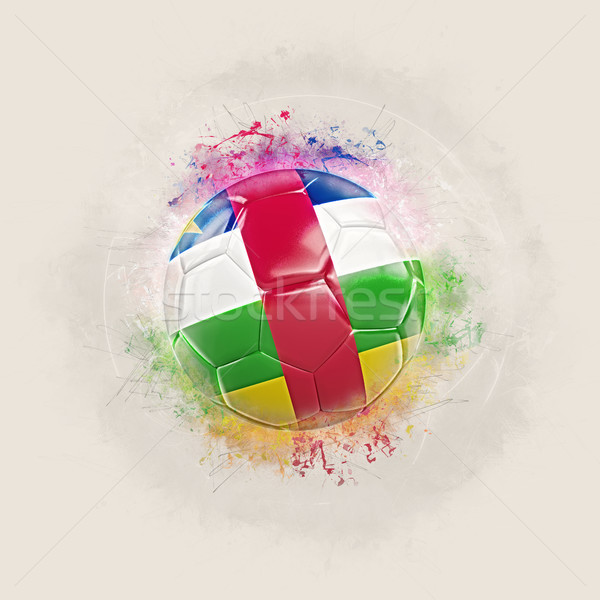 Grunge football with flag of central african republic Stock photo © MikhailMishchenko