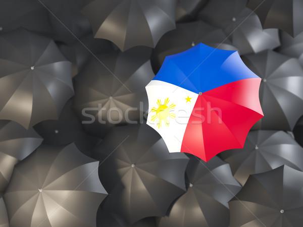 Umbrella with flag of philippines Stock photo © MikhailMishchenko