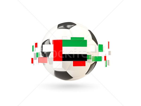 футбольным мячом линия флагами флаг Объединенные Арабские Эмираты Сток-фото © MikhailMishchenko