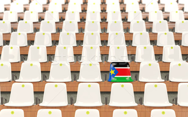 Stadium seat with flag of south sudan Stock photo © MikhailMishchenko